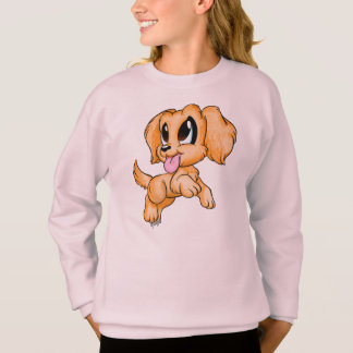 Hand Drawn Golden Retriever Girl's Sweater
