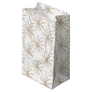 Hand-drawn Golden Stars Giftwrap by NJCO Studio Small Gift Bag