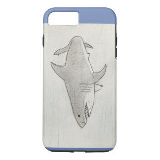Hand drawn Great White Shark iPhone 8 Plus/7 Plus Case