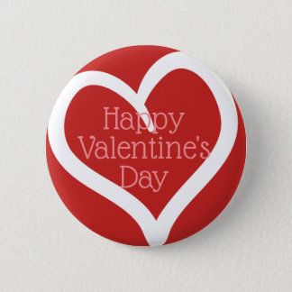 Hand Drawn Heart, Editable Message & Red Colour 2 Inch Round Button