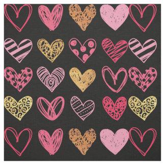 Hand Drawn Heart Pattern ID470 Fabric