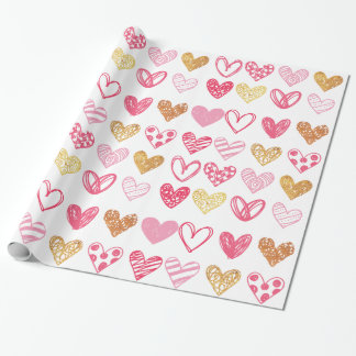 Hand Drawn Heart Pattern ID470 Wrapping Paper