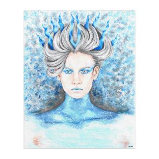 Hand Drawn Ice Queen Acrylic Wall Art
