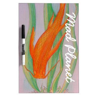 Hand Drawn Koi Carp Dry Erase Boards