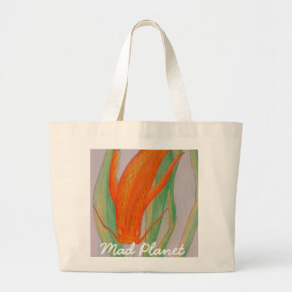 Hand Drawn Koi Carp Large Tote Bag
