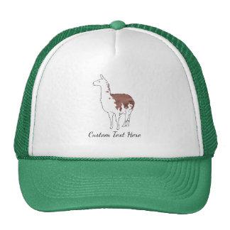 Hand Drawn Llama Trucker Hat