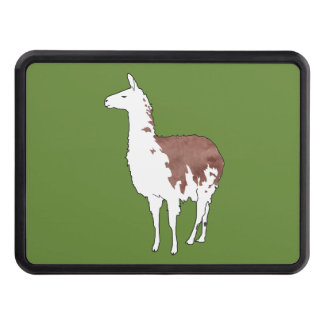 Hand Drawn Llama U-Pick Background Color Trailer Hitch Covers