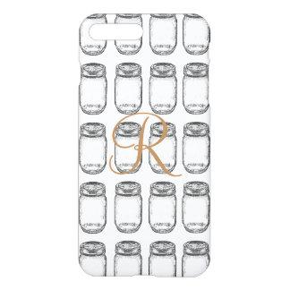 Hand-drawn Mason Jar Pattern iPhone 7 Plus Case