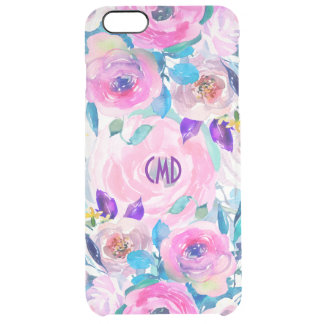 Hand Drawn Modern Colorful Floral Collage Clear iPhone 6 Plus Case