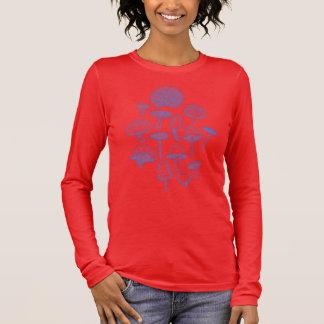 Hand Drawn Mushrooms Collage Long Sleeve T-Shirt