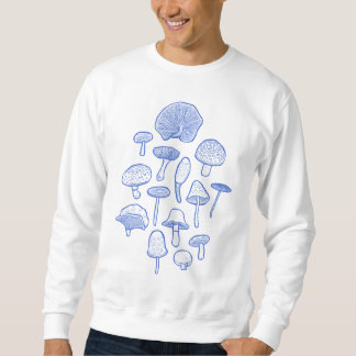 Hand Drawn Mushrooms Collage Sweatshirt