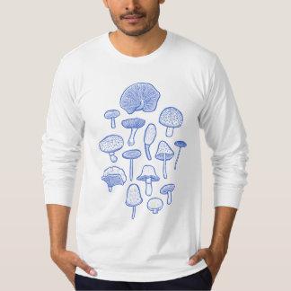 Hand Drawn Mushrooms Collage T-Shirt
