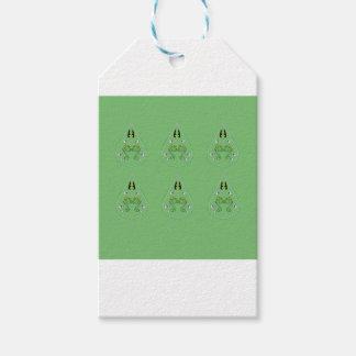HAND DRAWN Paisley Green. Original art Gift Tags