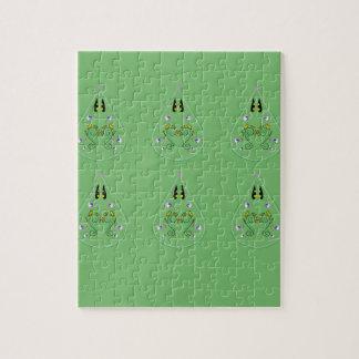 HAND DRAWN Paisley Green. Original art Jigsaw Puzzle
