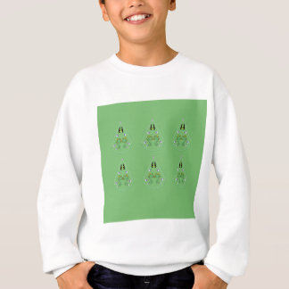 HAND DRAWN Paisley Green. Original art Sweatshirt