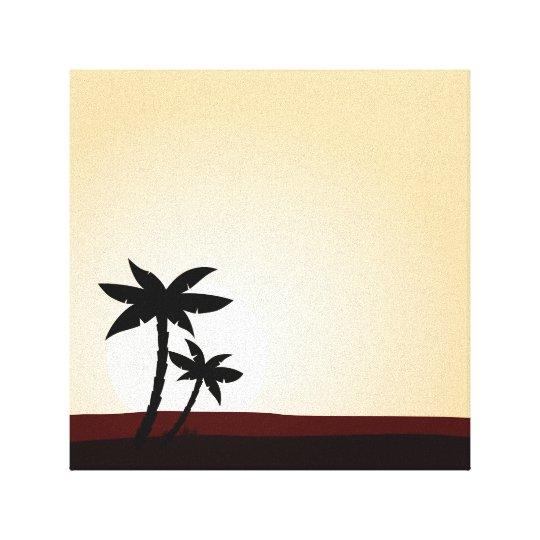 Hand drawn Palms on canvas