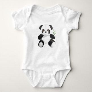 Hand-drawn Panda Plush Baby Bodysuit
