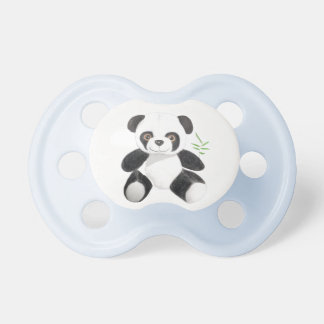 Hand-drawn Panda Plush Kkukku Pacifier