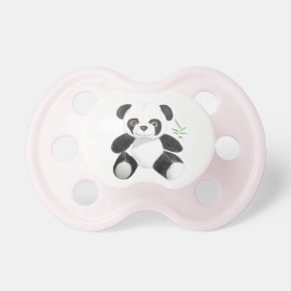 Hand-drawn Panda Plush Pacifier