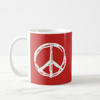 Hand Drawn Peace Sign Mug