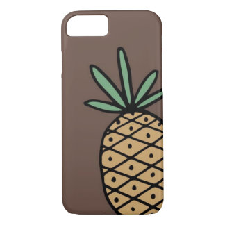 Hand drawn pineapple phone case