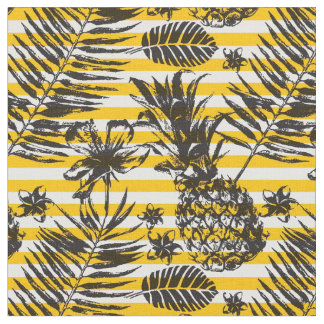 Hand Drawn Pineapples Fabric