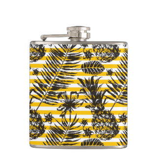 Hand Drawn Pineapples Flask
