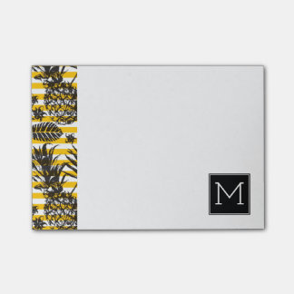 Hand Drawn Pineapples | Monogram Post-it Notes