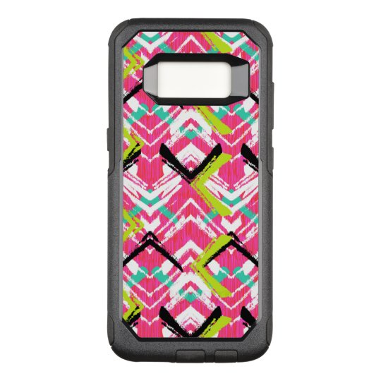 Hand Drawn Pink Zig Zag Pattern OtterBox Commuter Samsung Galaxy S8 Case