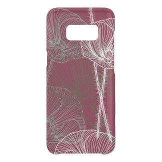 Hand Drawn Poppies on Dark Red Uncommon Samsung Galaxy S8 Case