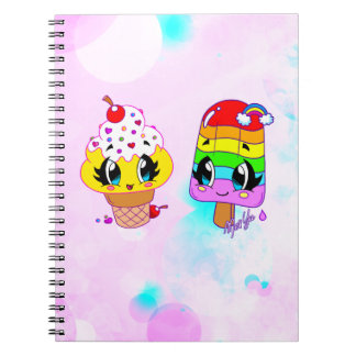 Hand Drawn Pretty Summer Cuties US Made Notebook
