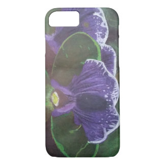 Hand-Drawn Purple Flower iPhone 7 Case