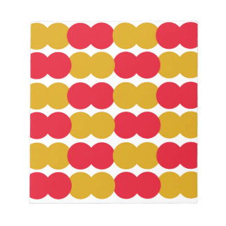 Hand drawn Stylish Polka dots : RED, GOLD Notepad