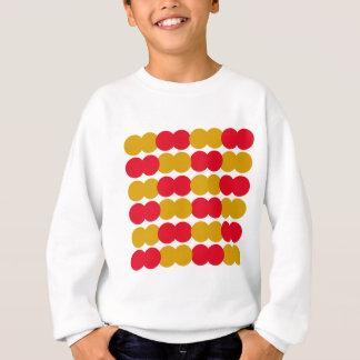 Hand drawn Stylish Polka dots : RED, GOLD Sweatshirt