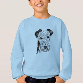 Hand Drawn Terrier Dog Art Boy's Sweater