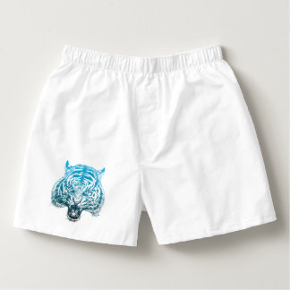 Hand Drawn Tiger Unisex Sleepwear Boxer Shorts Boxers