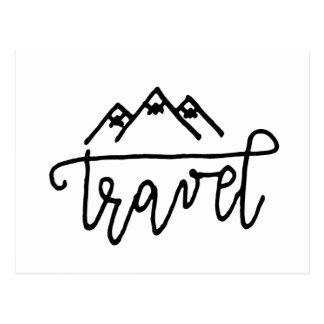 Hand Drawn Travel Text Postcard