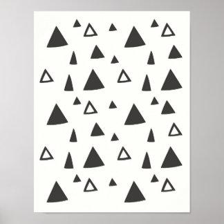 Hand-drawn Triangles   Wall Art