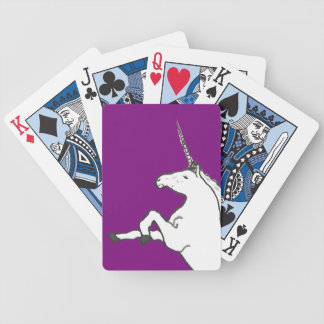 Hand Drawn Unicorn Bicycle Playing Cards