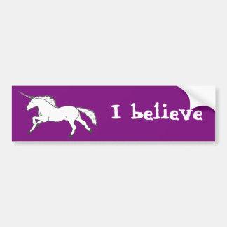 Hand Drawn Unicorn Bumper Sticker