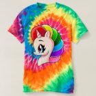 Hand Drawn Unicorn Rainbow Tie-Dye T-Shirt