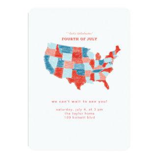 Hand Drawn United States July 4 Invitation