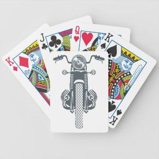 Hand Drawn Vintage Motor Bike Bicycle Playing Cards