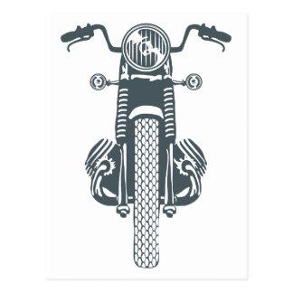 Hand Drawn Vintage Motor Bike Postcard