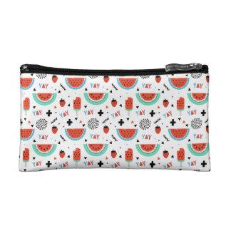 Hand Drawn Watermelon Summer Cosmetics Bags