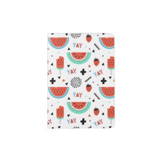 Hand Drawn Watermelon Summer Passport Holder
