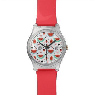 Hand Drawn Watermelon Summer Wrist Watch
