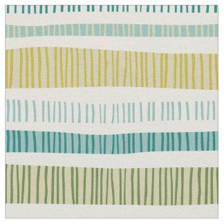 Hand Drawn Wavy Stripes Pattern Fabric