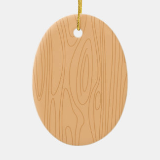 Hand drawn wooden ornament