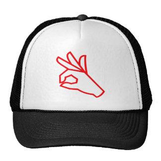 Hand Gesture: Outstanding, Excellent Mesh Hats